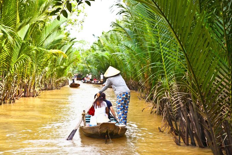 Plávajúce trhy na rieke Mekong