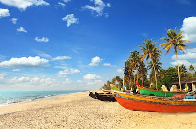 Kontrasty Indie a pláž Agonda